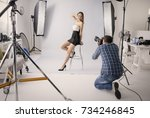 professional photo shooting at...   Shutterstock . vector #734246845