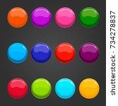 big set circle web button. game ...