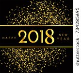 modern 2018 new year background | Shutterstock .eps vector #734285695
