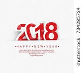 modern 2018 new year background   Shutterstock .eps vector #734285734