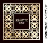art deco ornamental vintage...   Shutterstock .eps vector #734295049