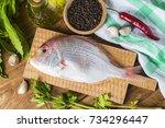 red sea bream | Shutterstock . vector #734296447