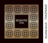art deco ornamental vintage...   Shutterstock .eps vector #734296465