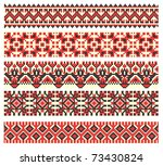 embroidered good like handmade... | Shutterstock .eps vector #73430824
