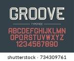 groove vector decorative bold... | Shutterstock .eps vector #734309761