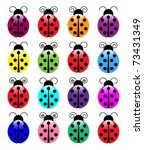 Colorful Ladybugs
