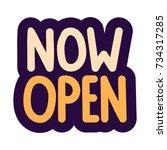 now open. vector hand drawn... | Shutterstock .eps vector #734317285