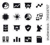 16 vector icon set   circle...   Shutterstock .eps vector #734318707