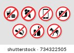 forbidden sign vector black ...   Shutterstock .eps vector #734322505