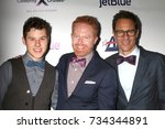 Small photo of LOS ANGELES - OCT 12: Nolan Gould, Jesse Tyler Ferguson, Eric McCormack at the Tie The Knot Celebrates 5-Year Anniversary at the NeueHouse on October 12, 2017 in Los Angeles, CA
