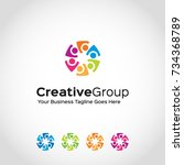 this is a group logo used for... | Shutterstock .eps vector #734368789