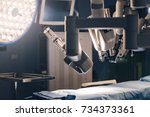 surgical room in hospital with... | Shutterstock . vector #734373361
