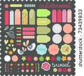 cute scrapbook graphic elements ... | Shutterstock .eps vector #73439833