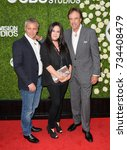 Small photo of LOS ANGELES, CA - August 01, 2017: Matt LeBlanc, Liza Snyder & Kevin Nealon at CBS TV's Summer Soiree at CBS TV Studios