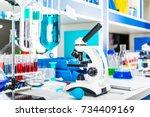 chemistry development  medicine ... | Shutterstock . vector #734409169