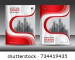 annual report brochure flyer... | Shutterstock .eps vector #734419435