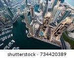 dubai skyscrapers. dubai marina ... | Shutterstock . vector #734420389