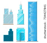 skyscrapers buildings isolated... | Shutterstock .eps vector #734427841