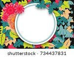 stream autumn sale banner with... | Shutterstock . vector #734437831