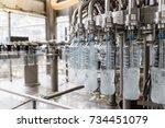 bottling plant   water bottling ... | Shutterstock . vector #734451079
