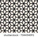 seamless abstract geometric... | Shutterstock .eps vector #734454091