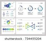 six development slide template... | Shutterstock .eps vector #734455204