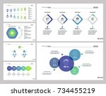 six making money slide template ... | Shutterstock .eps vector #734455219
