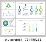 six business expertise slide... | Shutterstock .eps vector #734455291