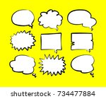bubble speech doodle | Shutterstock .eps vector #734477884