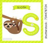 letter s uppercase cute... | Shutterstock .eps vector #734478724