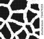 halftone black and white. ink... | Shutterstock .eps vector #734479255