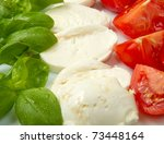 italian flag made with tomato... | Shutterstock . vector #73448164