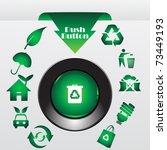 recycle button  vector... | Shutterstock .eps vector #73449193