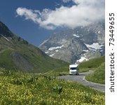 auto camper on the move ...   Shutterstock . vector #73449655