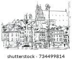 warsaw | Shutterstock .eps vector #734499814