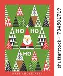 fun merry christmas card design....