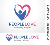 people love logo template... | Shutterstock .eps vector #734503345