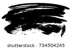 brush stroke and texture. smear ... | Shutterstock . vector #734504245