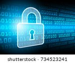 cyber security data protection... | Shutterstock .eps vector #734523241