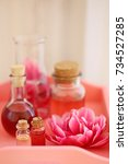 aroma of tulips. cosmetic... | Shutterstock . vector #734527285