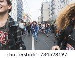 milan  italy   october 13  2017 ... | Shutterstock . vector #734528197
