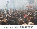 milan  italy   october 13  2017 ...   Shutterstock . vector #734529955