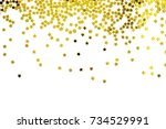 group of gold star decoration... | Shutterstock . vector #734529991