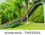 steps | Shutterstock . vector #734533201