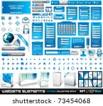 web elements extreme... | Shutterstock .eps vector #73454068