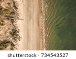 aerial view of a beautiful...   Shutterstock . vector #734543527