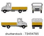delivery truck   Shutterstock . vector #73454785