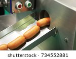 ready made pork sausages in a... | Shutterstock . vector #734552881