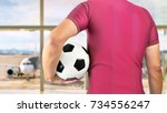 cropped rearview image of a...   Shutterstock . vector #734556247