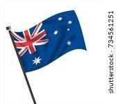 australia flag  australia icon... | Shutterstock .eps vector #734561251